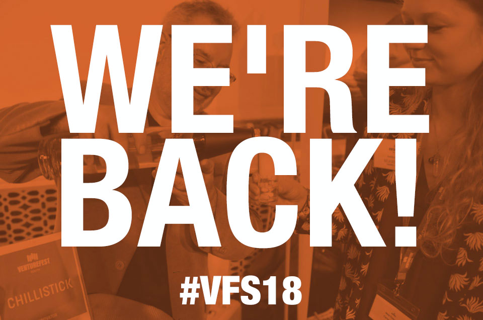 We're back for Venturefest South 2018