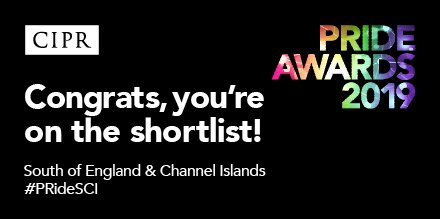 #VFS19 has been shortlisted to win Best Event at CIPR PRide awards